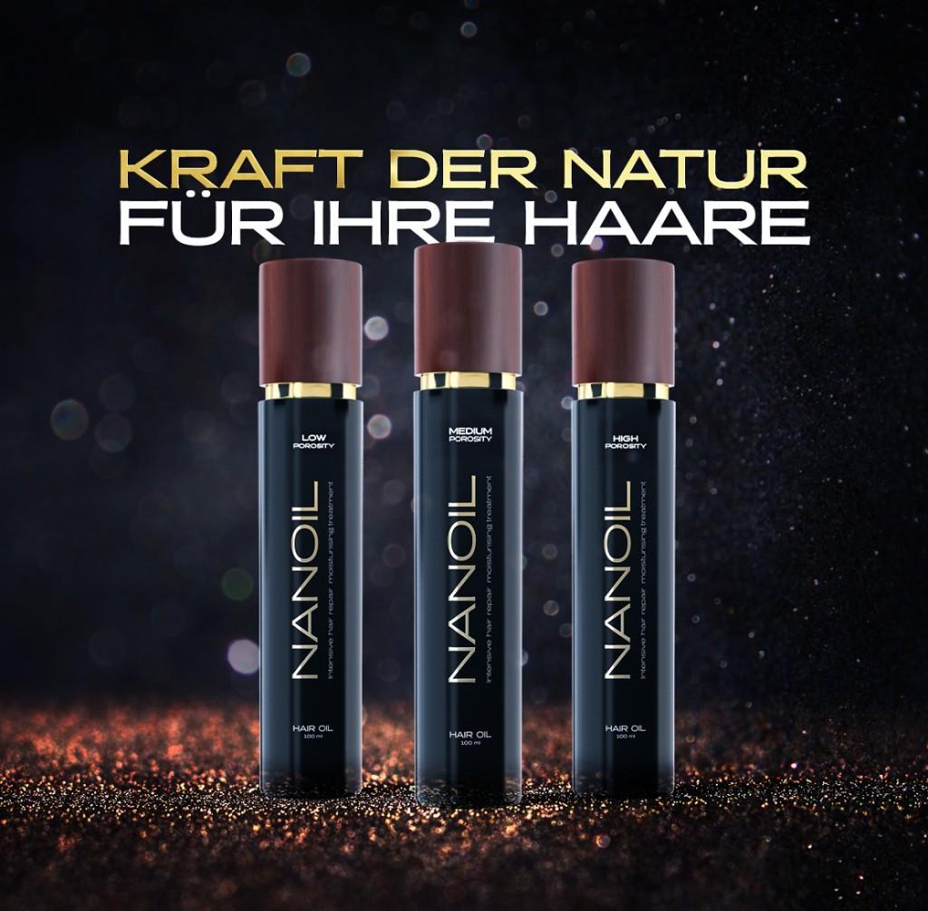 Haaröl Nanoil in drei Varianten